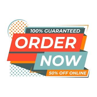 Garantierte bestellung jetzt aus online-banner