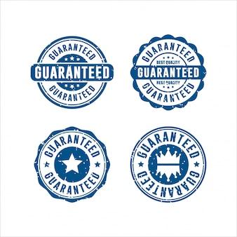 Garantierte briefmarken design kollektion