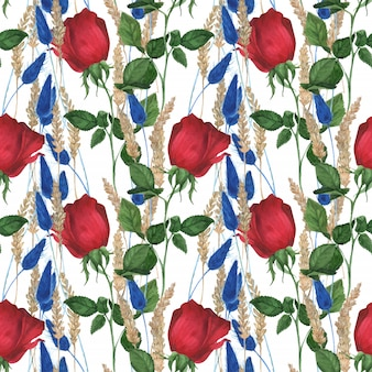 Garden rose nahtlose muster