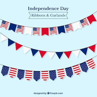 Garlands mit usa-flaggen