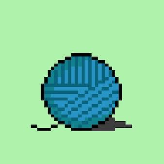 Garnknäuel mit pixel-art-stil