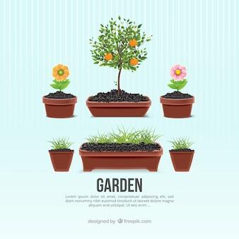 Garten blumentöpfe