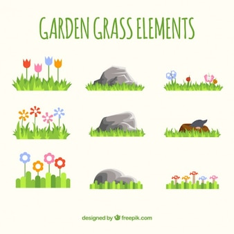 Garten gras elemente