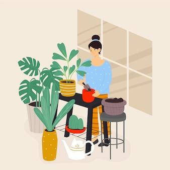 Garten zu hause konzept