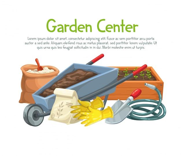 Gartenarbeit mit blumen