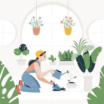 Gartenarbeit zu hause