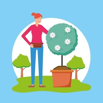 Gartenarbeitkonzept