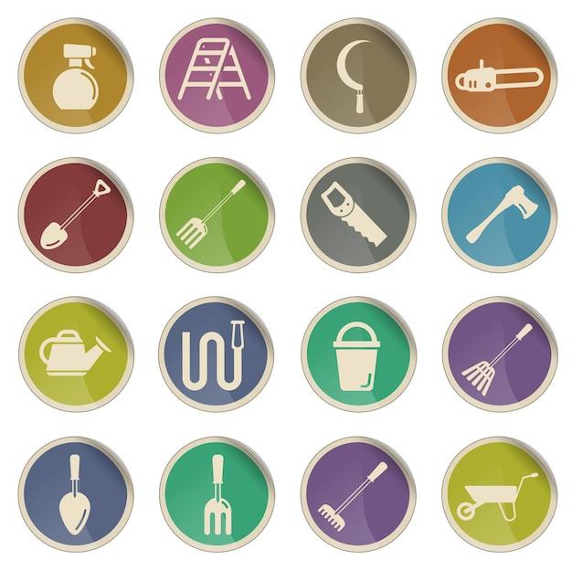 Gartengeräte einfach symbol für websymbole