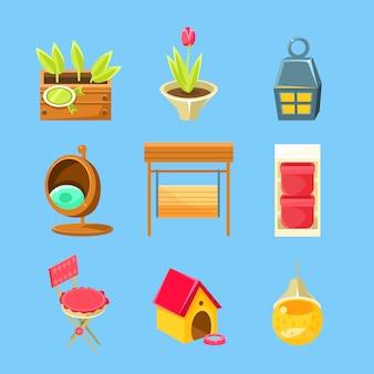 Gartenmaterial-set