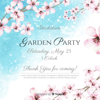 Gartenparty-flyer