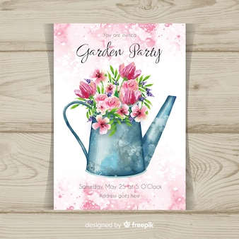Gartenparty-flyer