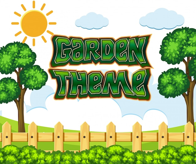 Gartenszene im garten