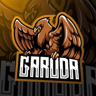 Garuda-esport-maskottchen-logo-design