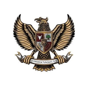 Garuda indonesien illustration premium-vektor