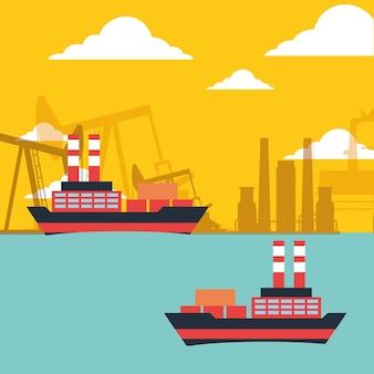 Gas öltanker schiffe transportieren chemische industrie