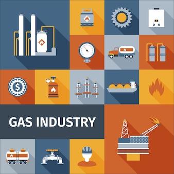 Gas-symbol flach