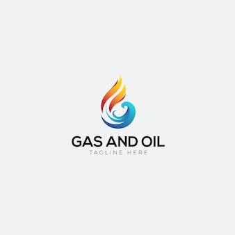 Gas und öl mit anfänglichem g-logo