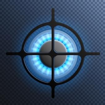 Gasflammenbrenner-plattenzusammensetzung