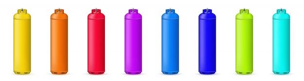 Gasflasche, tank, ballon, propangasbehälter.
