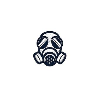 Gasmaske isoliert