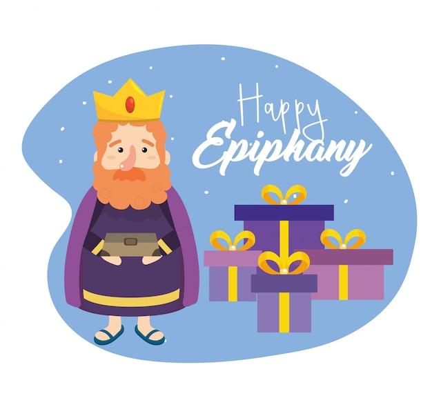 Gaspar magier king mit geschenken und weihrauch