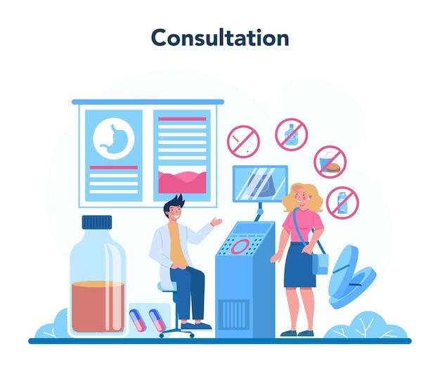 Gastroenterologie arzt konzept illustration