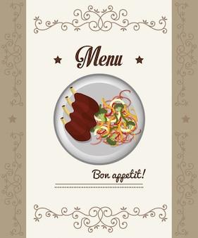 Gastronomie und speisekarte