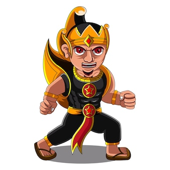 Gatotkaca chibi maskottchen logo