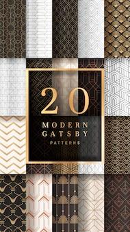 Gatsby gemusterte banner