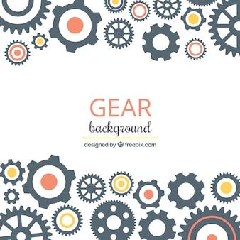 Gear-hintergrund mit kreisen in verschiedenen farben
