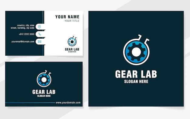 Gear lab-logo-vorlage im modernen stil