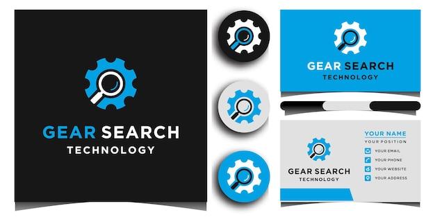 Gear logo-vorlagen und visitenkarten-design