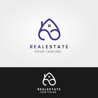 Gebäude architektur haus immobilien logo design symbol