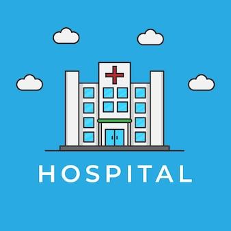 Gebäude des stadtkrankenhauses