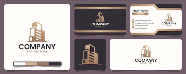 Gebäude, gebäudelayouts, gebäudeschönheiten, für ausrüstungs- und bauunternehmen, inspiration für das logo-design