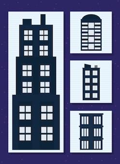 Gebäude-icon-sammlung
