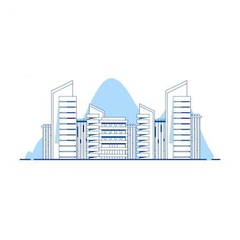 Gebäude illustrationen