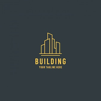 Gebäude immobilien premium logo design