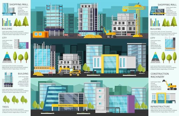 Gebäude infografiken