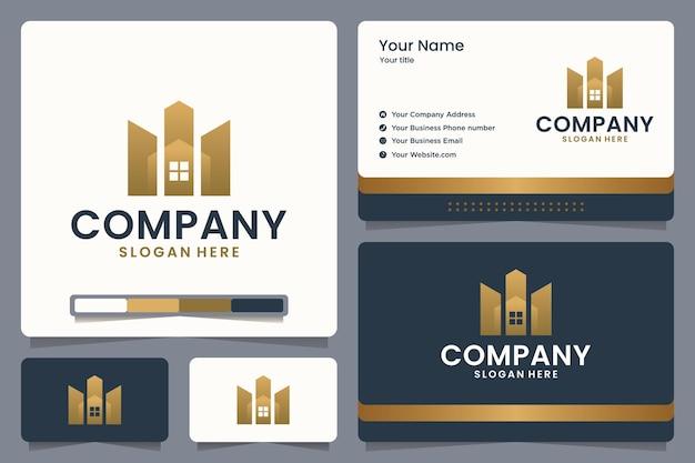 Gebäude logo design und visitenkarte