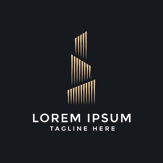 Gebäude logo design vector kostenlos