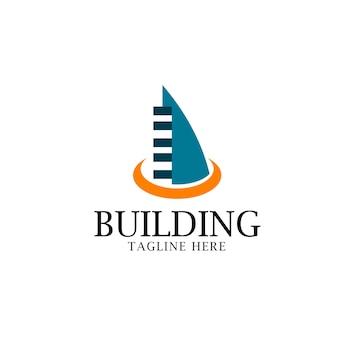 Gebäude-logo-vektor-schablonen-design