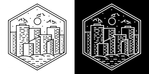 Gebäude monoline logo design
