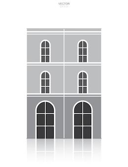 Gebäude-symbol. architekturidentität mit detail- und elementdesign. vektor-illustration.