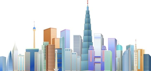 Gebäude und ikonizitätsturm