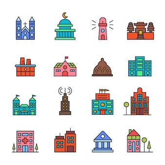 Gebäude und immobilien logo abbildung isoliert