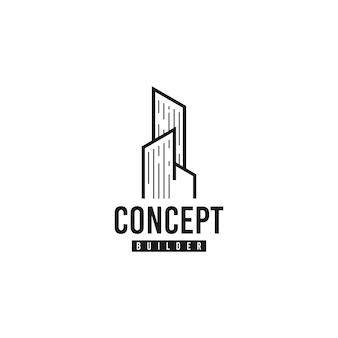 Gebäude-vektor-logo