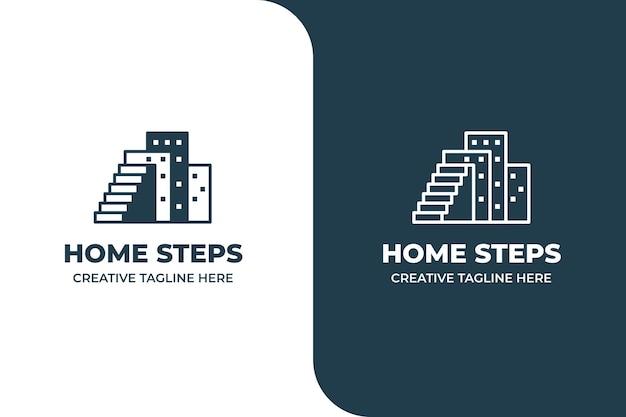 Gebäude wohnung immobilien monoline logo