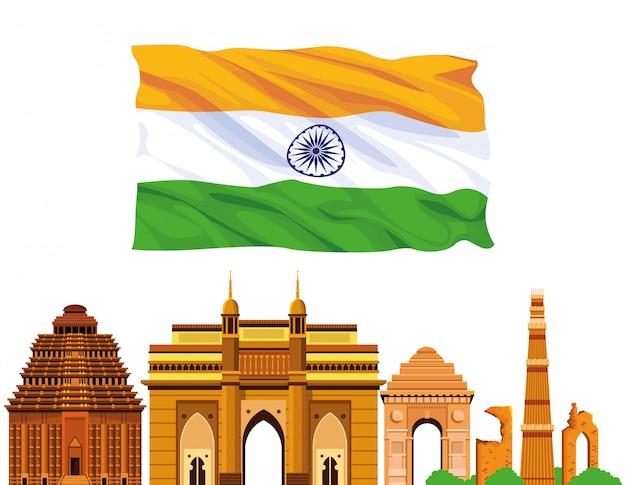 Gebäudearchitektur nationalen denkmals indiens