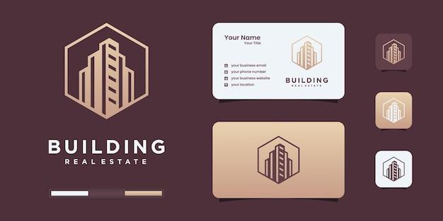 Gebäudearchitektur wortmarke logo design inspirationsvorlage.